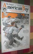 1918 American Boy Magazine Cover by Walt Louderback WWI Soldier Games Bike Ads