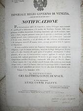 Z22-SANITA'-LOMB.VENETO-COMMERCIO VASELLAME METALLO 1836