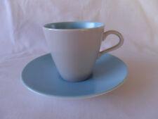 Poole Pottery Dove Grey/Sky Blue Tea Cup & Saucer