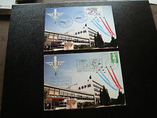 france - 2 cartes 1991 photo (patrouille de france) (cy58) french
