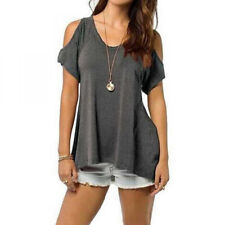 Women Beach Off-shoulder Blouse T-Shirts Tops Tee Casual Loose Summer Plus Size
