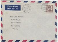 czechoslovakia 1950 airmail stamps cover ref 19644