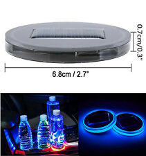 68mm Interior Water Coaster Blue LED Light With Solar Charger Mat AHM J2