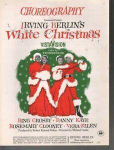 Choreography White Christmas Bing Crosby Rosemary Clooney Sheet Music
