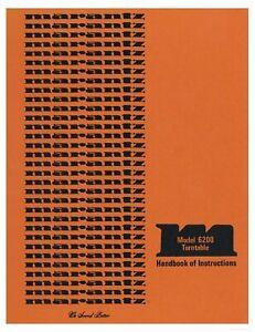Marantz Model 6200 Turntable Owner's Manual - Operating Instructions