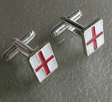St George'S Flag Red White Cufflinks Mens Cuff Links New England