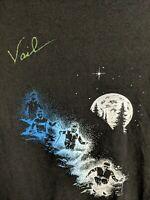 Vintage 1985 Vail Colorado Ski Shirt Screen Stars Best Skiing Size XL