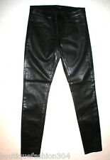 New J Brand Jeans Super Skinny Womens Coated Leather Black Tar Leather Look 28