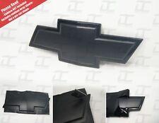 (2) Silverado Flat Black Universal Chevy Bowtie Vinyl Sheets Emblem Matte