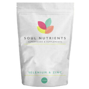 Zinc 15mg & Selenium 200mcg Tablets- Tiny Tablets- One a day- Immune Support