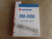 2011 SUZUKI RM-Z450 Service Manual OEM