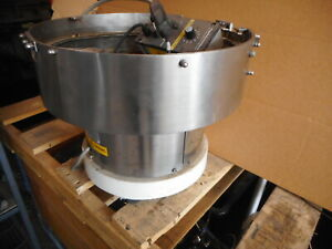 ALPHAMATION VIBRATORY BOWL PARTS FEEDER -- 400mm Dia 240AC with Remote