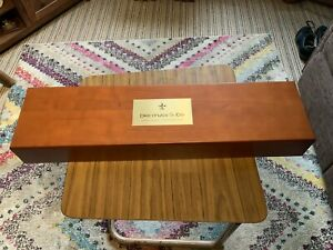 DREYFUSS & CO OF SWITZERLAND Quality Large Solid Wood Watch Display Box NEW