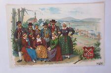 """ COSTUMES,Bavaroise costumes folkloriques,haut-palatinat U.Regensburg "" 1900"
