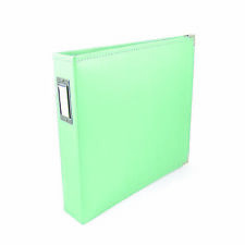 """American Crafts We R Memory Keepers 13"""" x 15"""" Faux Leather Ring Album - Mint"""