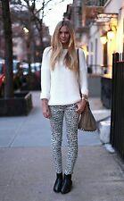 sass & bide leopard print jeans size 24
