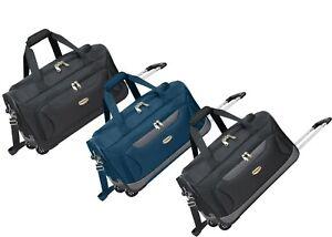 X Large Lightweight Wheeled Holdall Travel Luggage Trolley Suitcase Duffle Bag