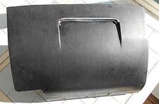 BMW Bavaria (1972) OEM Black Glove Box Door with Chrome Trim vintage patina