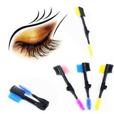 Pro Cosmetic Bamboo Handle Double Eyebrow Brush + Eyebrow Comb Makeup Tools New