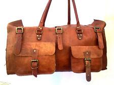 New Vintage Handmade Goat Leather Duffel Bag,Holdall,Gym Bag,Overnight Bag
