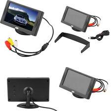 "4.3"" LCD TFT Car RearView Headrest Color Monitor For Car Reversing Camera GPS AL"
