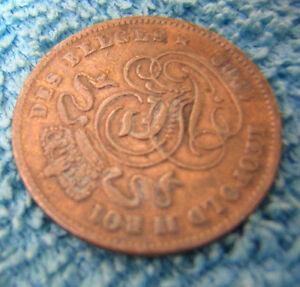 2 CENT COIN LEOPOLD II ROI DES BELGES