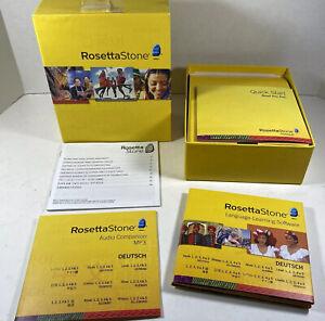 Rosetta Stone Deutsch German Language Training Levels 1 - 5 Version 4 EXCELLENT