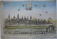 Optical view visionneuse feuille Jérusalem vue générale Israël cuivre pli 1770