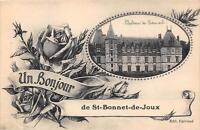 CPA 71 UN BONJOUR DE SAINT BONNET DE JOUX