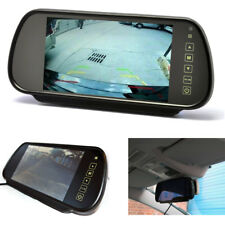"7"" Inch LCD Universal Car Rear View Mirror Monitor Screen For Parking Cameras"