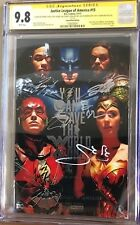 Justice League #15_CGC 9.8 SS_Signed Affleck Cavill Gadot Miller Momoa & Fisher
