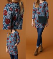 NEW RRP £49.95 Ex White Stuff Leanne Printed Jersey Tunic