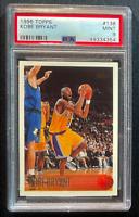 1996 Topps #138 Kobe Bryant Rookie Card RC PSA 9 MINT Lakers NBA HOF Fast Ship