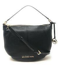 Michael Kors 35T9GBFL6L Bedford Medium Convertible Leather and Signature Shoulder Crossbody Bag - Black