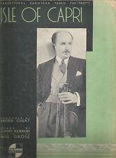 Isle of Capri Jimmy Kennedy Will Grosz Sheet Music 1934