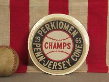 Vintage 1965 Perkiomen School Baseball Champs Patch Penn-Jersey Conference 5""