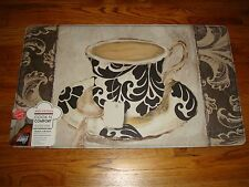 "Anti Fatigue Cook N' Comfort Kitchen Floor Mat Rug 18""x 30"" TEA Floral DAMASK!!"
