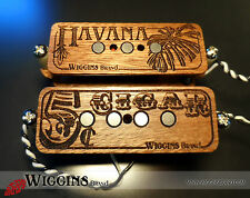 Wiggins Brand, Hand wound 3 or 4 string, Cigar box wood pickup, MADE TO ORDER