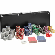 Pokerkoffer Pokerset 500 Chips Laser Pokerchips Poker Set Jetons Alu Koffer Schw
