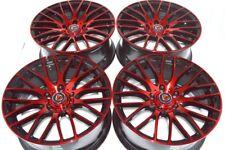 """4 New DDR Zuki 17x7.5 5x114.3 38mm Black/Polished Red 17"""" Wheels Rims"""