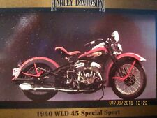 Harley Davidson Trading Card #138 1940 WLD 45 Special. Brand New Free Shipping