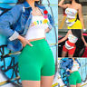 Club Wear Just For Fun Crop Top Tracksuit Letter Printed Outfits Two Piece Set