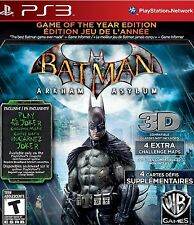 NEW Batman: Arkham Asylum (Game of the Year Edition) PS3