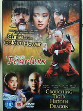 CURSE OF THE GOLDEN FLOWER / FEARLESS / CROUCHING TIGER HIDDEN DRAGON | UK DVD