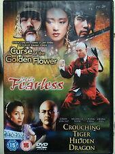 CURSE OF THE GOLDEN FLOWER / FEARLESS / CROUCHING TIGER HIDDEN DRAGON | UK DVD