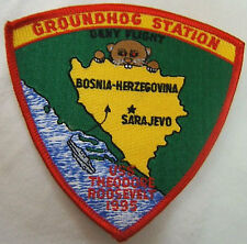 Groundhog Station USS TH. ROOSEVELT AERONAVALE PATCH insigne TISSU US