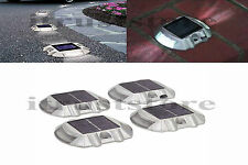 New Solar Power LED Outdoor Road Driveway Pathway Dock Path Step Light 4 Pack