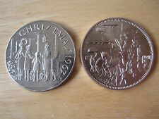 """(2) Christmas Medals. One dated 1967, 1-1/2"""""""