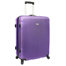 "Traveler's Choice Rome 29"" Purple Hardcase Lightweight Spinner Luggage TSA Lock"