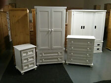 PINE FURNITURE VIENNA 3 PIECE BEDROOM SET WHITE FULLY ASSEMBLED NO FLAT PACKS